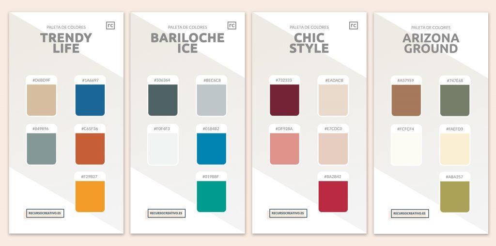 paleta de colores interiorismo