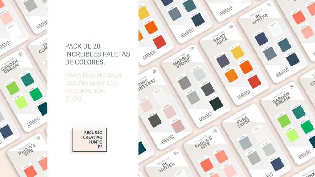 paletas de colores populares 2018