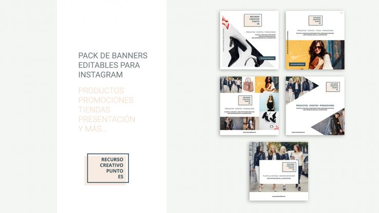 Pack de banners editables para Instagram gratis