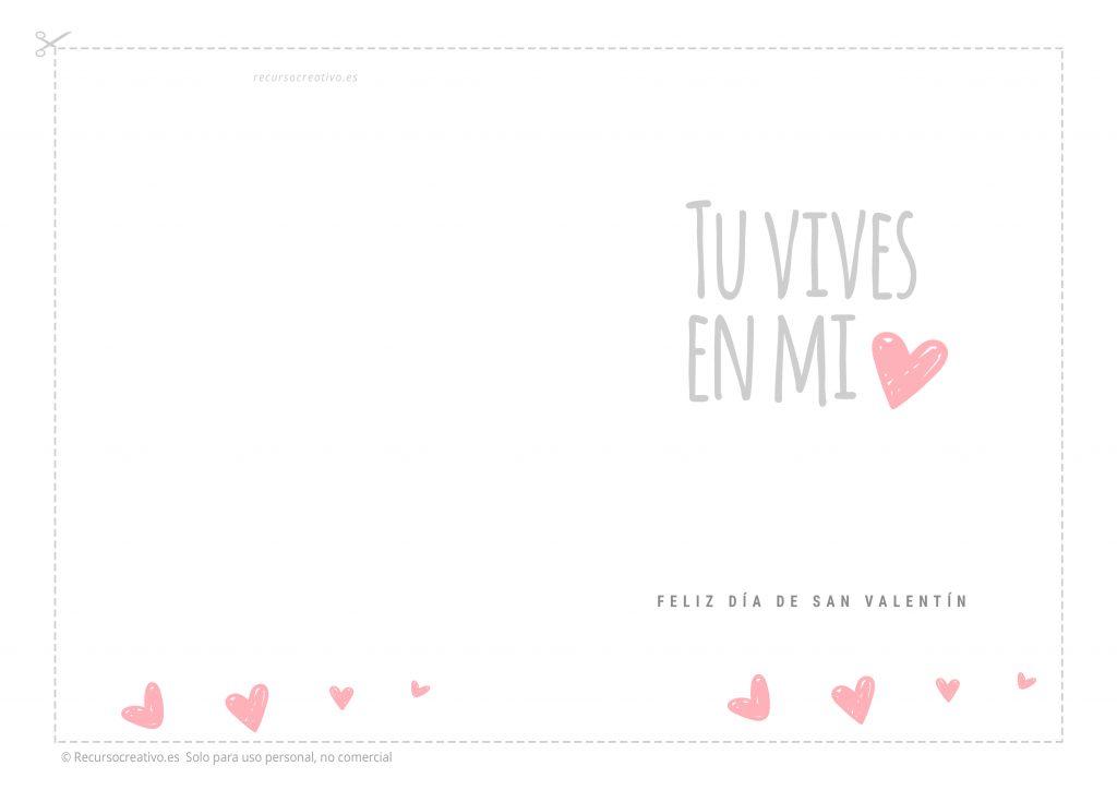 tarjeta imprimible para san valentin