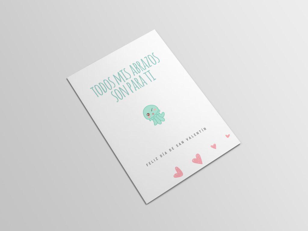 tarjeta de san valentin imprimible