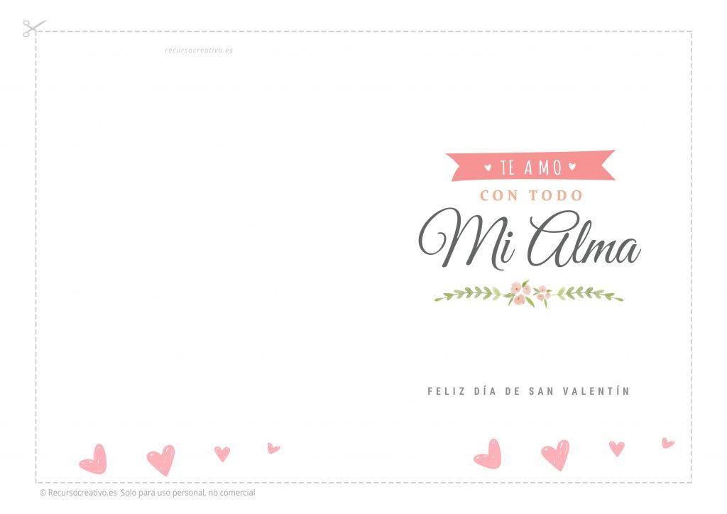 tarjeta san valentin gratis imprimible