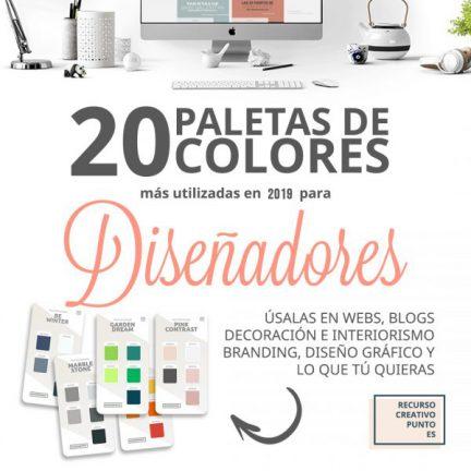 20 Paletas de colores para diseño 2019