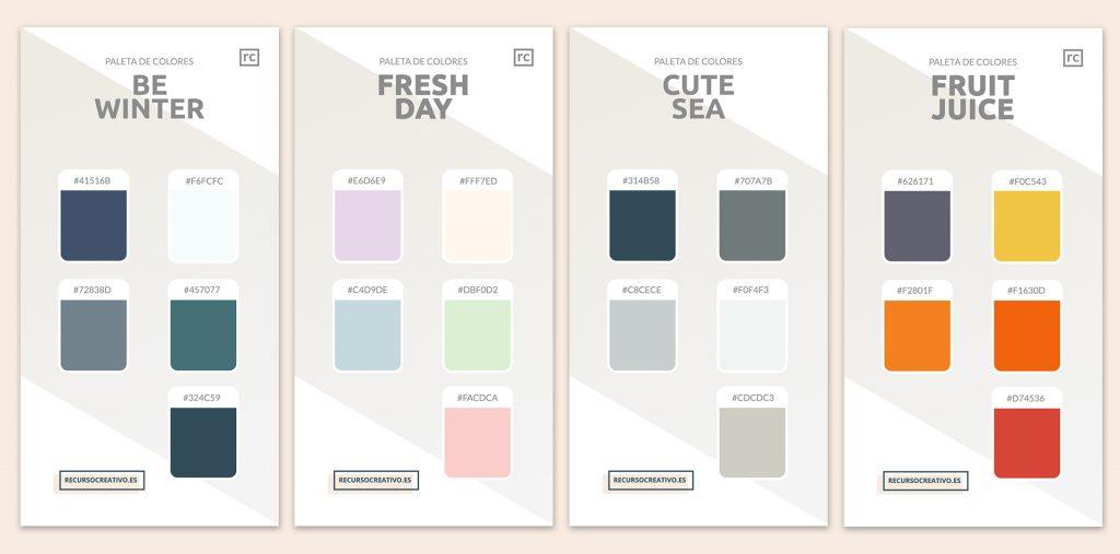 paleta de colores para decoración