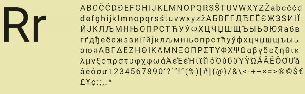 roboto free font gratis
