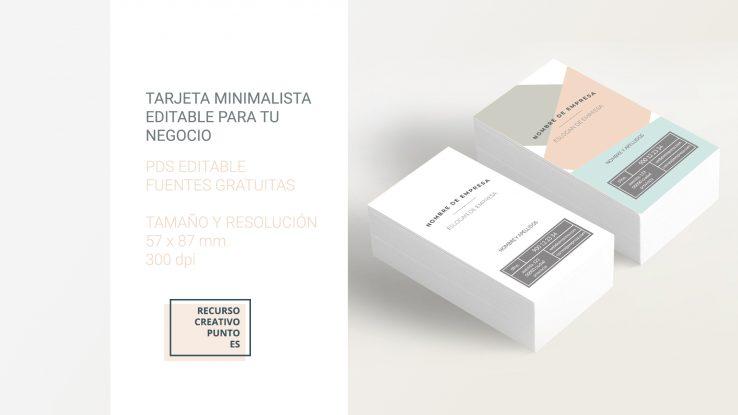 Tarjeta minimalista editable gratuita