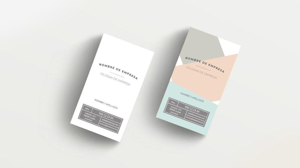tarjeta presentación empresa imprimible