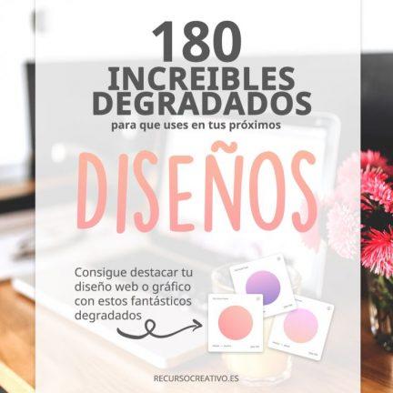 180 Increíbles degradados para diseño web y gráfico