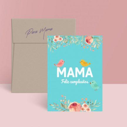tarjeta imprimible cumpleaños mama