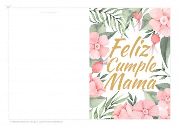 Tarjetas De Cumpleanos Para Mama Imprimibles Recursocreativo Es