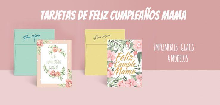 Tarjetas de cumpleaños para mama imprimibles
