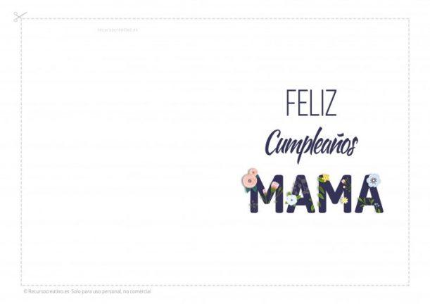 tarjeta de felicidades para madres